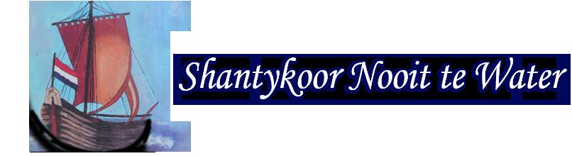 Shantykoor Nooit te Water Logo
